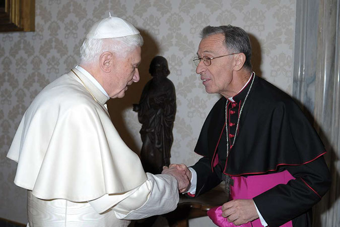 Image result for Photo Cardinal Luis Ladaria S.j with Pope Benedict