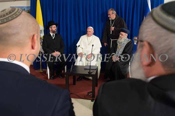 Еврейский религиозный взгляд на визит Папы Римского в Израиль.